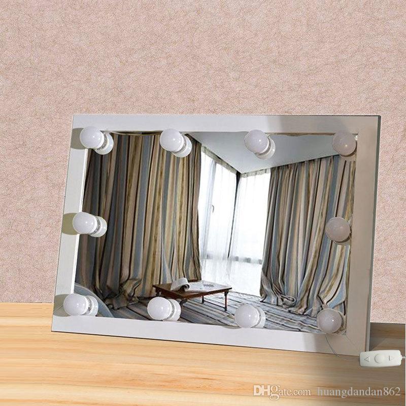 acheter hollywood style kit de lumieres de miroir de vanite de led avec les ampoules de dimmable bande d eclairage pour le kit de table de vanite de