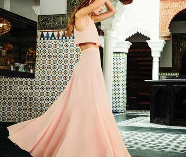 Light Pink Chiffon Maxi Skirts Graceful A Line Floor Length Bridesmaid Skirts Chic Zipper Waist Long Formal Party From Yanmai   Dhgate Com