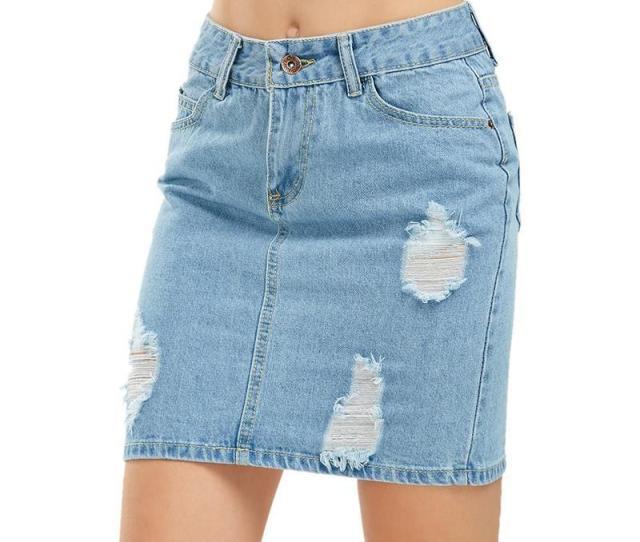 2019 Denim Pencil Skirt Women Blue Wash Sexy Ripped Mini Denim Skirts Fashion Casual Pocket Rock Summer Skirt S 3xl From Vintageclothing 67 34 Dhgate