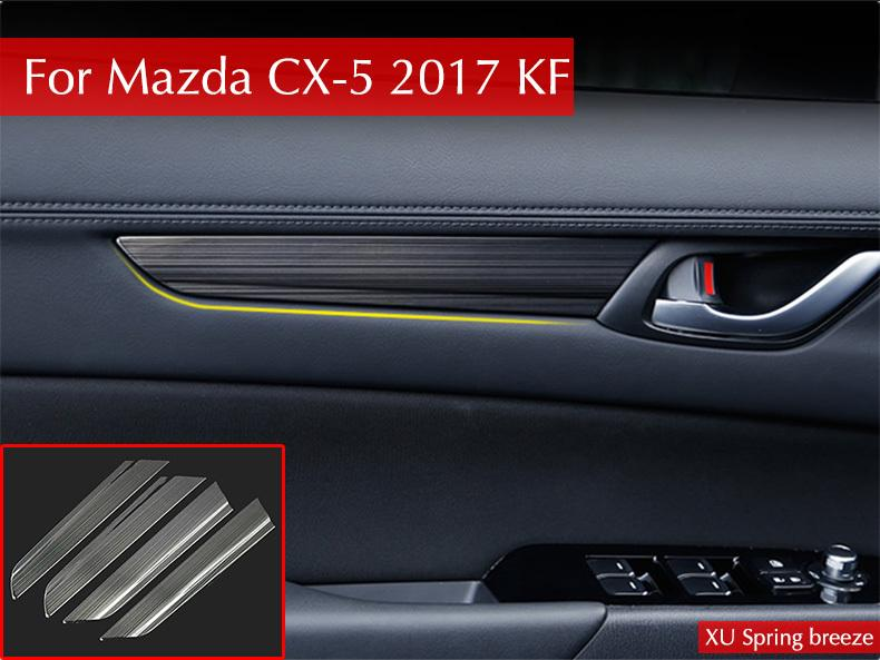 For Mazda Cx 5 Cx5 2017 2018 Kf Car Interior Door Handle Handrail Panel Cover Trim Strip Decoration Styling Online With