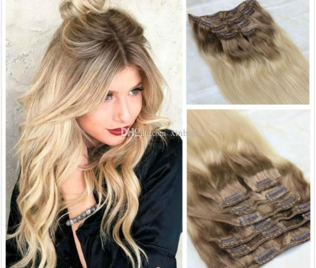Brazilian Human Hair Extensions Blonde Highlights Remy Clip In Human Hair Extension Free Ship Hair Extension Remy Premium Remy Hair Extensions From Xinbate