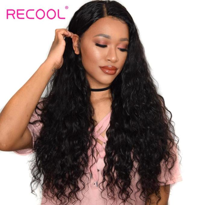 recool brazilian hair weave bundles 10-28 inch remy hair extensions natural  black color wet and wavy human bundles