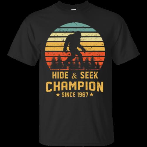 Hide And Seek World Champion T Shirt Bigfoot Retro Vintage Since 1967 Size S 6xl
