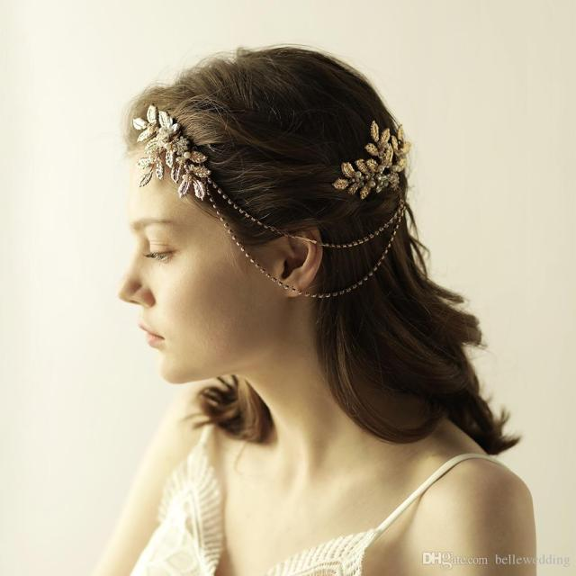 hair jewelry for brides