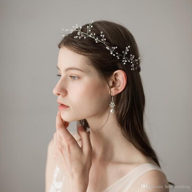 2018 wedding headbands hair accessories with snowflakes