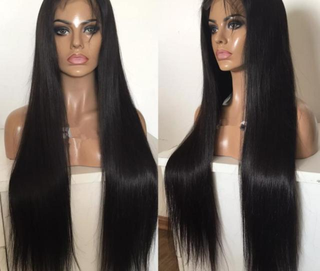 A Grade The Best Quality Full Lace Wigs Malaysian Virgin Human Hair Silky Straight Gluelss Lace Front Wigs For Black Woman Free Shippiing Human Hair