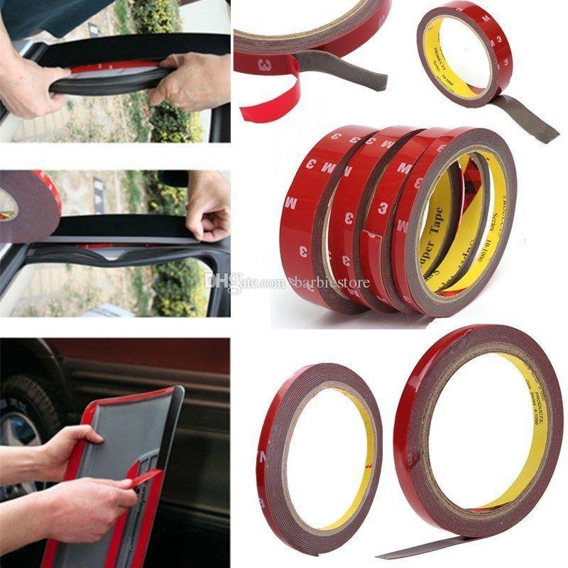acheter bande adhesive double face permanente forte de colle de 3m super collante pour la voiture b00693 de vehicule de 0 48 du barbiestore