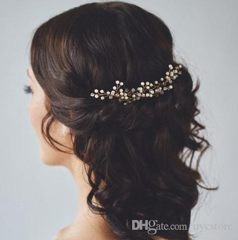 crystal flower bridal hair pins handmade pearl hairpin elegant headpiece wedding bridesmaid jewelry hair accessories
