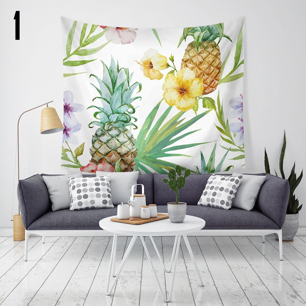 New Arrival 9 Styles Pineapple Home Decor Tapestries Beach Towel     New Arrival 9 Styles Pineapple Home Decor Tapestries Beach Towel Camping  Blanket Bedsheet Table Cloth With Led Wildlife Tapestry Wall Hangings  William