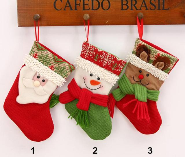 Small Mini Christmas Stocking Cute Beautiful Knit Craft Socks Xmas Tree Decoratioe Marble Ball Adhd Add Autism Anxiety Toy For Kids Adults J Christmas