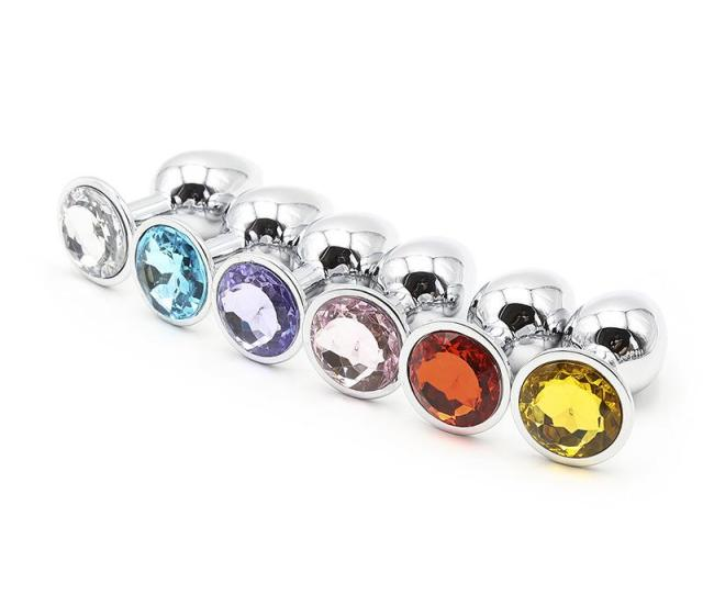 Unisex Butt Toys Plug Anal Silver Insert Stainless Steel Metal Plated Jeweled Sexy Stopper Anal Toys For Women Bike Games Kids Games From Air11