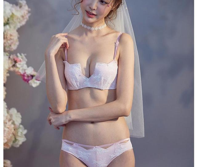 2019 Half Cup Deep V Neck Lace Girls Small Underwear Push Up Sexy Women Seamless Lingerie 1 2 Cup Fashion Japanese Bra And Briefs Set From Neinei