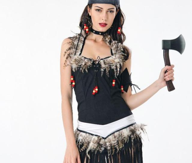 2019 Sexy Fringed Native Indians Princess Of Savage Forests Hunter Fancy Dress Carnival Halloween Costumes For Women Adult From Cactuse 33 74 Dhgate Com