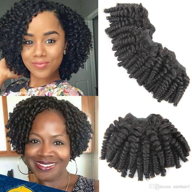 brazilian funmi hair loose wave 3 bundles spring curl hair bundles short curly weave unprocessed brazilian human hair extensions 100g/bundle