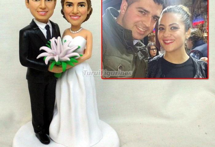 Personalised Clay Wedding Cake Topper Gay Wedding Clay Figurine Cake
