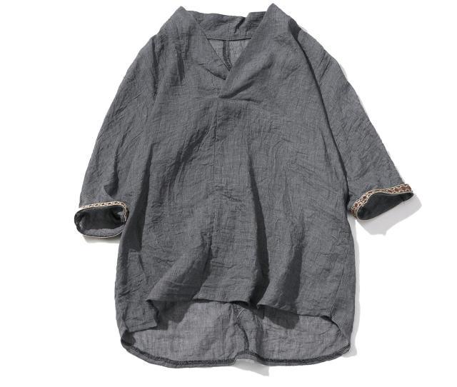 Summer Mens Three Quarter Linen T Shirt Tee Shirts Short Sleeve Print T Shirt Men Harajuku Vintage Linen V Neck Tshirt Xl Clever T Shirts Best Tee