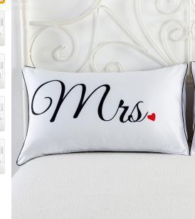 acheter set couples taie d oreiller lettres imprime taies d oreiller literie de mariage oreiller couverture de cas nouveau chaude u61101 de 23 71 du