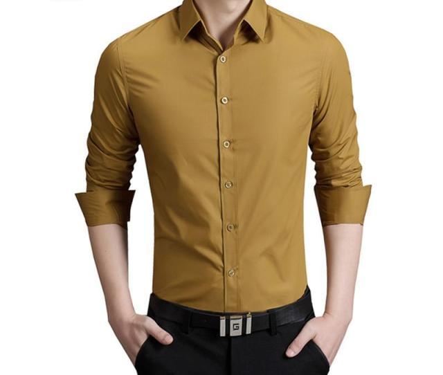 Bolubao New Men Casual Shirt Brand Clothing Cotton Tuxedo Mens Dress Shirt Long Sleeve Slim Male Business Shirts M Xl From Shoppingparty