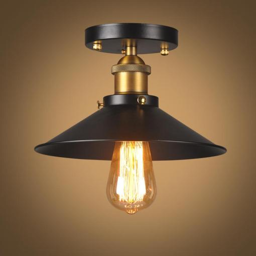 2018 Industrial Flush Mount Ceiling Lamp 1 Light Black Metal Light     2018 Industrial Flush Mount Ceiling Lamp 1 Light Black Metal Light Fixture  For Hallway  Dining Room Living Room Kitchen Lighting From Alice wu10
