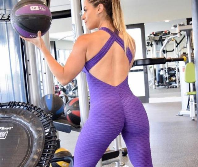 2019 Sexy Fitness Clothing Womens One Pieces Sports Suit Set Workout Gym Fitness Jumpsuit Pants Sexy Yoga Set Bandage Gym Bodysuit From Qingchunxu