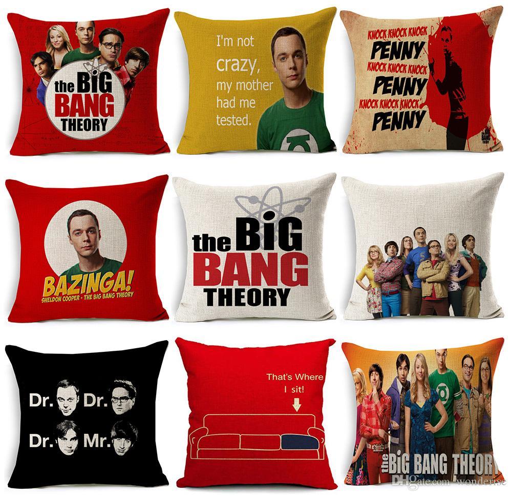acheter 15 styles the big bang theorie housses de coussin sheldon cooper jim parsons housse de coussin canape decoratif lin taie d oreiller de 3 18 du