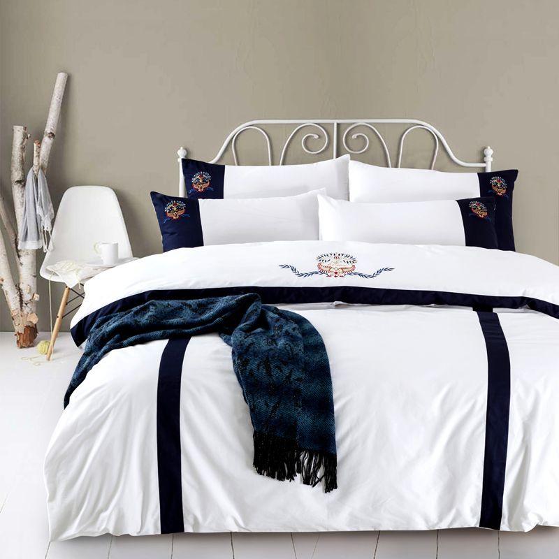 acheter ensemble de draps en coton ensemble de couette housse de couette ensemble de lit taie d oreiller a broderie orientale ensemble de literie de luxe