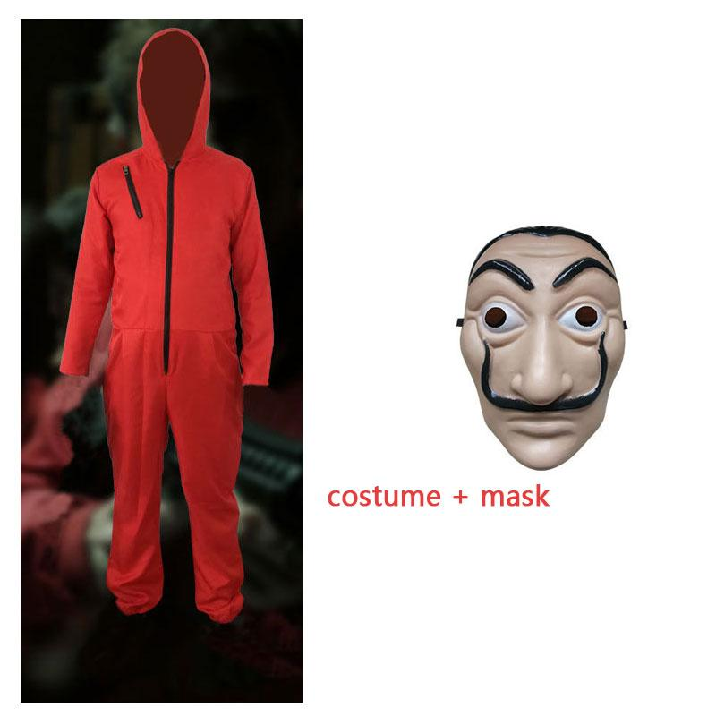 Kids Salvador Dali Cosplay Movie Mask The House Of Paper La Casa De Papel Costume Boys Children Face Mask Halloween Party