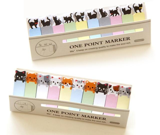 Office Writing Cute Funny Joy Cat Style Sticker Bookmark Memo Marker Point Flags Sticky Notes Label Decoration W5 Bedroom Decals For Adults Bedroom Decals