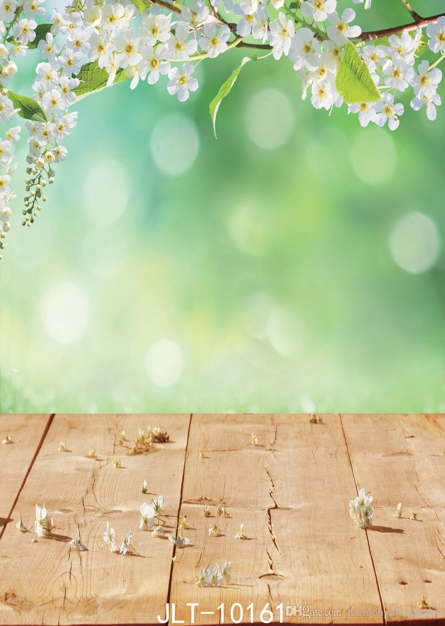 2018 Spring Photography Backdrops White Flower Background