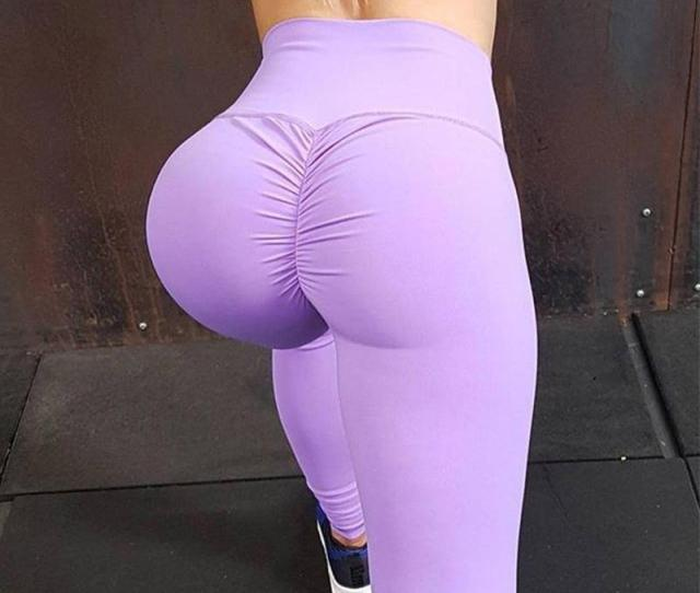2019 2018 Hot Women Yoga Pants High Elastic Fitness Sport Leggings Tights Slim Running Sportswear Sports Pants Quick Drying Training Trousers From Zy878264