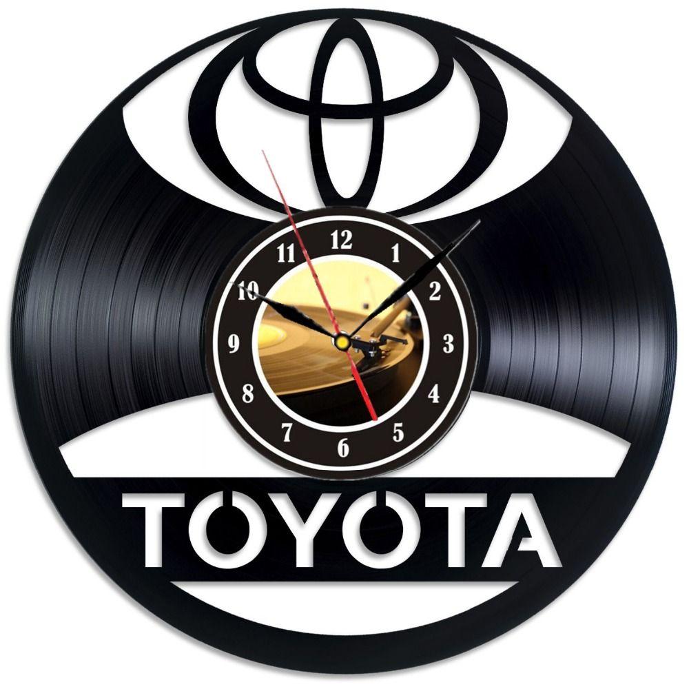 acheter horloge murale a logo vinyle de toyota decorez votre maison avec modern car art de 38 12 du amaryllier dhgate com