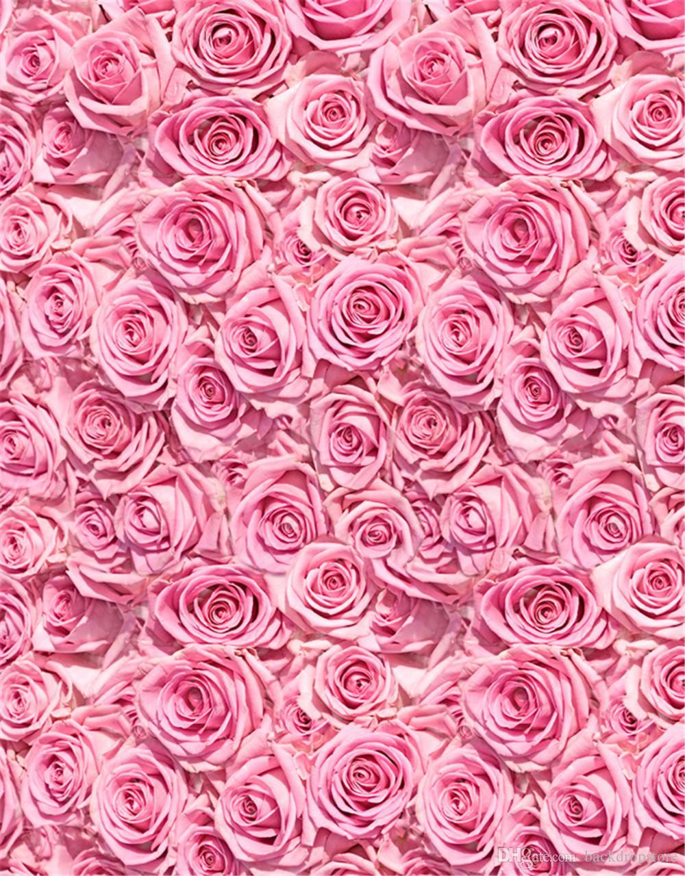 2018 Digital Printed Pink Rose 3D Backgrounds Baby Newborn