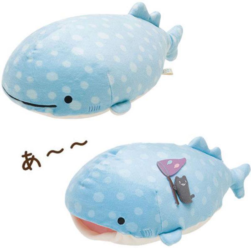 acheter kawaii san x bande dessinee baleine bleue peluche jouets poupee mignon animaux de mer doux animaux en peluche oreiller enfants enfants sieste