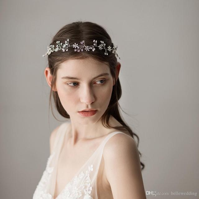 vintage wedding headbands hair accessories with snowflakes rhinestones women hair jewelry wedding tiaras bridal headbands #hp359