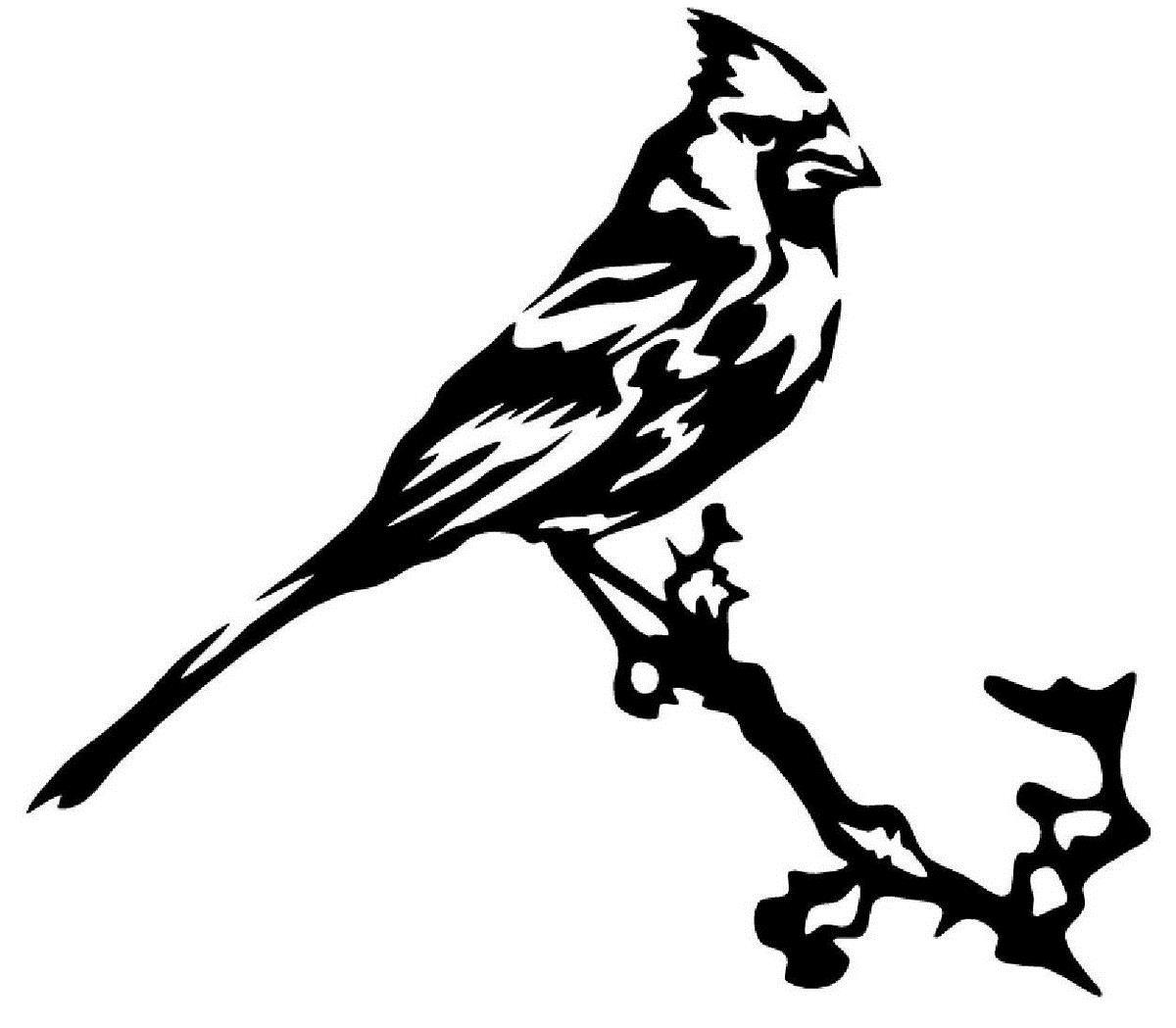 Car Styling For Cardinal Bird On A Branch Vinyl Decal