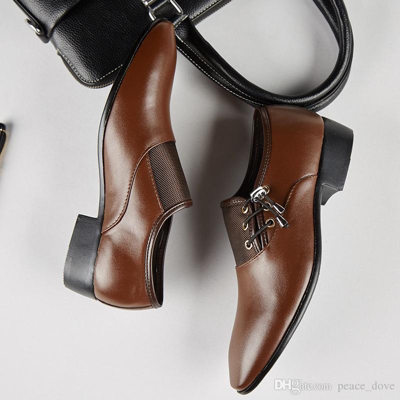 Formale Hochzeit Schuhe Männer Oxford Herren Formale Schuhe 2019 Elegante Business Classic Leder Schwarz Herren Spitzen Schuhe