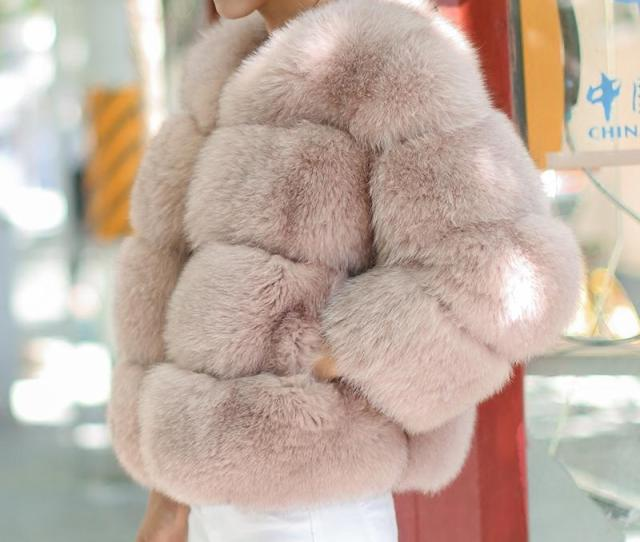 2019 Uppin Imported High Quality Pink Fox Fur Coat Women Winter Thick Warm Faux Furry Girls Coats Round Collar Womens Fake Fur Jacket C18110901 From
