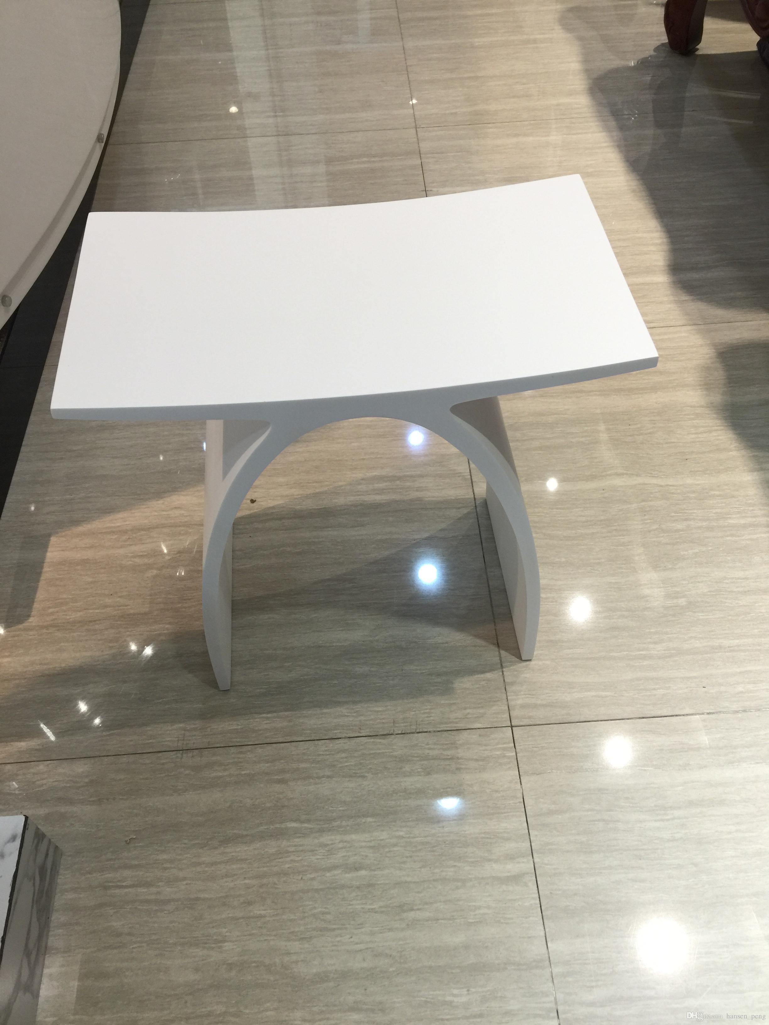 acheter nouveau matte moderne curved design salle de bain soiseau douche tabouret matt blanc acrylique sauna sauna chaises 0102 de 294 78 du