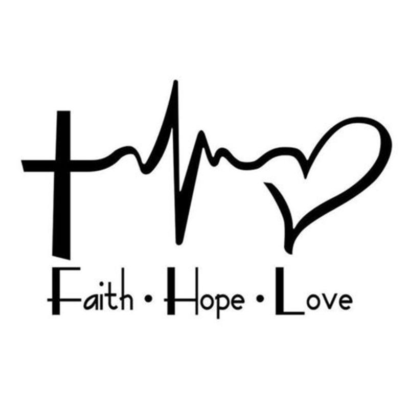 Download 2019 Faith Hope Love Vinyl Decal Sticker For Car Or Truck ...