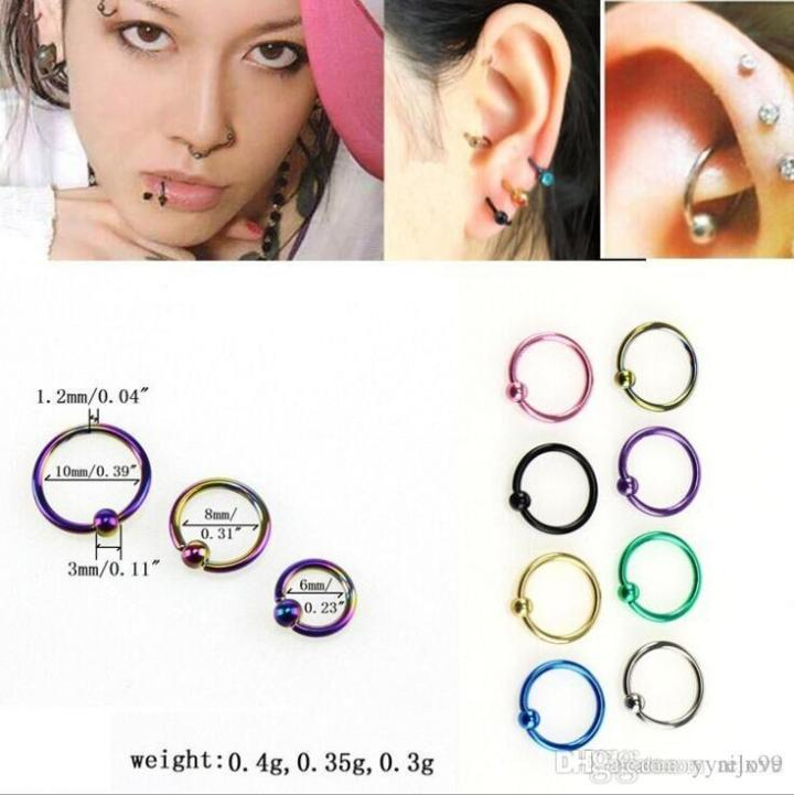Best 2017 New Bead Ring Ball Hoop Eyebrow Nose Lip Rings Body Piercing Jewelry Under 0 2 Dhgate Com