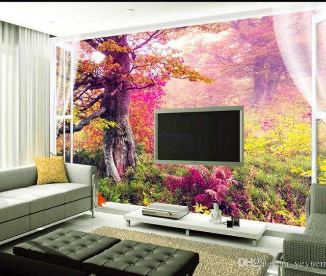 Custom Photo Wallpaper Murals D Scenic Forest Mural Wall Home Decoration Wall Paper Hd Images Wallpaper Hd Images Wallpapers From Yeyueman