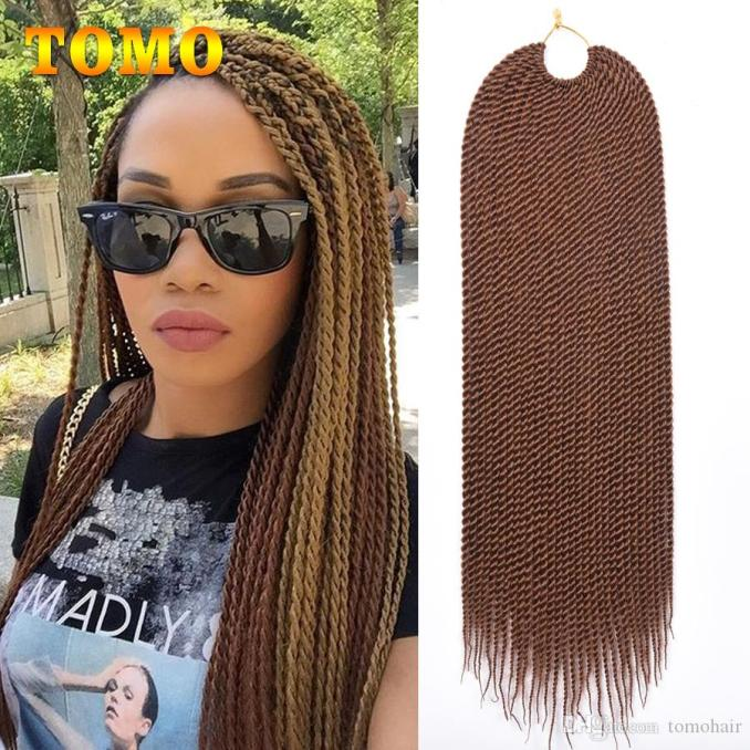 tomo crochet braids senegalese twist braiding hair weave pure/ombre synthetic braided hair extensions for african american 30 strands/pack