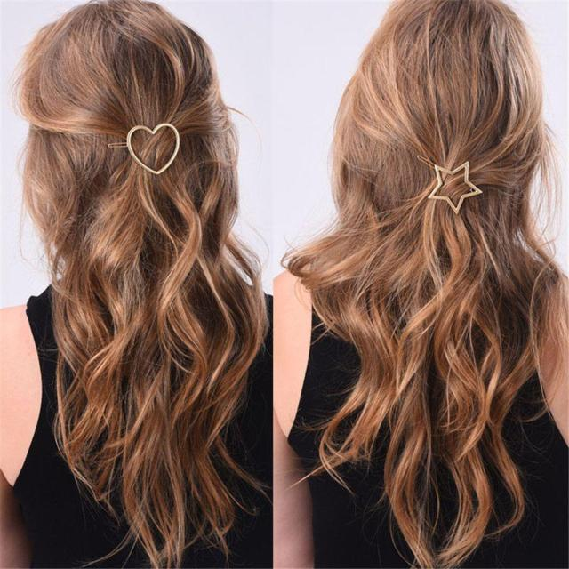 oppohere metal ponytail hairclips holder with star/pentagramme hairclips women hair accessories for a half-up hairstyle