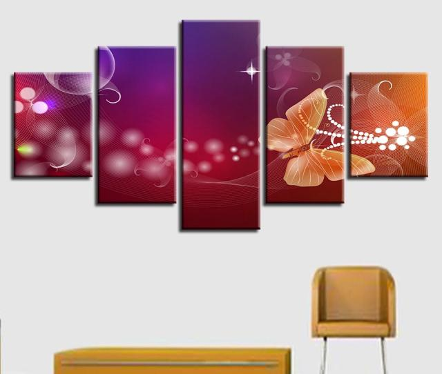 Wall Art Posters Canvas Hd Prints Abstract Paintings Flowers And Butterfly Pictures Modular Home Decor For Living Room From Z Dhgate