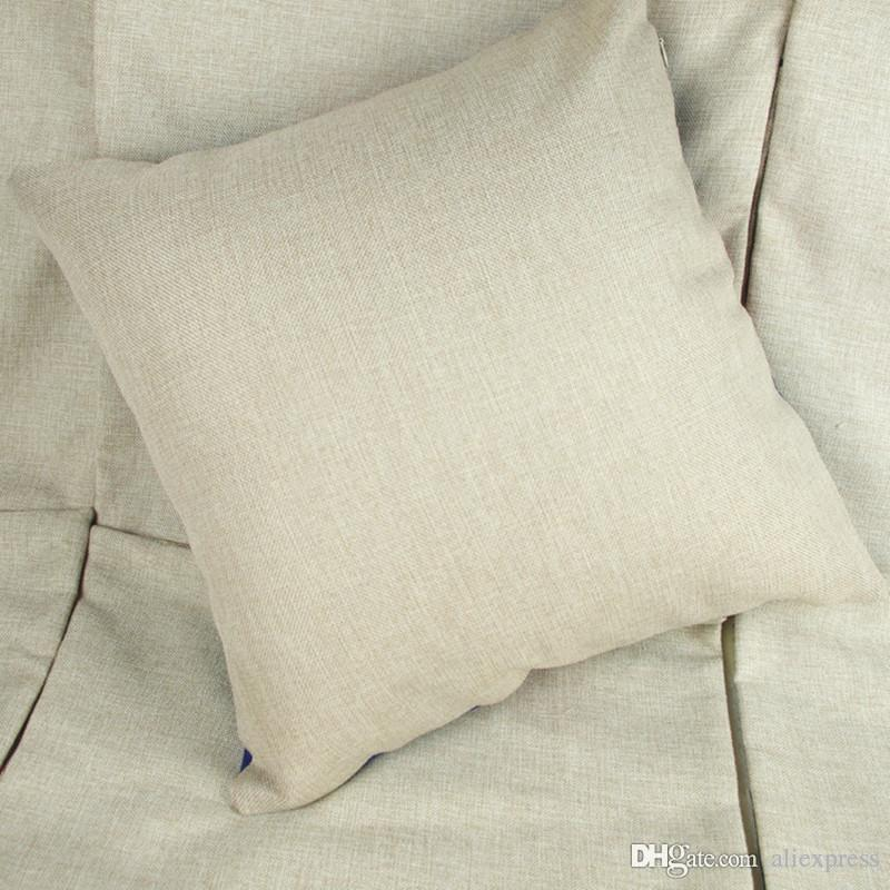 35x35cm natural poly linen pillow case blanks for diy sublimation plain burlap cushion cover embroidery blanks baby crib pillows baby pink pillows from