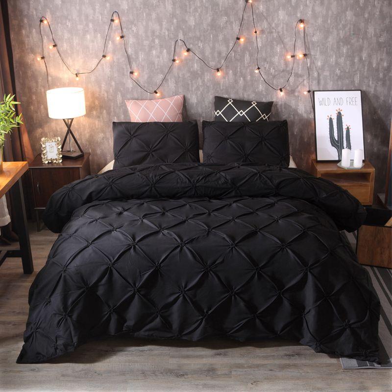 acheter ensembles de literie nouveau luxe noir 4 taille drap de housse de couette ensembles cadeau housse de couette polyester fibre maison hotel de 53 46