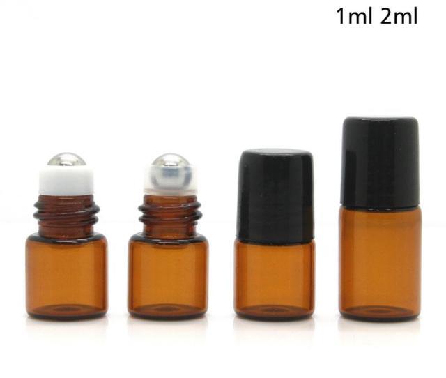 Makeup Amber Roller Ball Essential Oil Perfume Bottles Ml Ml Sample Roll On Roller Ball Glass Bottles For Travel Empty Perfume Bottles Manufacturers Empty