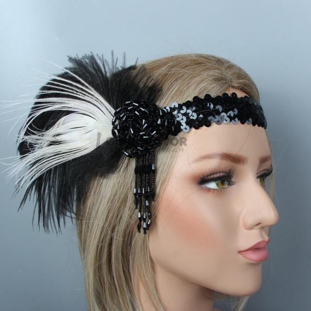factory headband women black pendant wedding hair accessories girls flower hairband bridal headdress