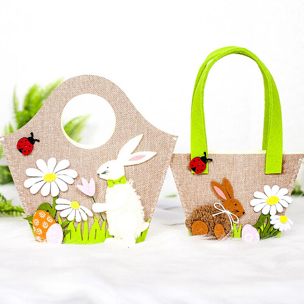 New Easter Candy Bag Cute Easter Rabbit Gift Candy Bag Creative Present Home Accessory Easter Bunny Decoration