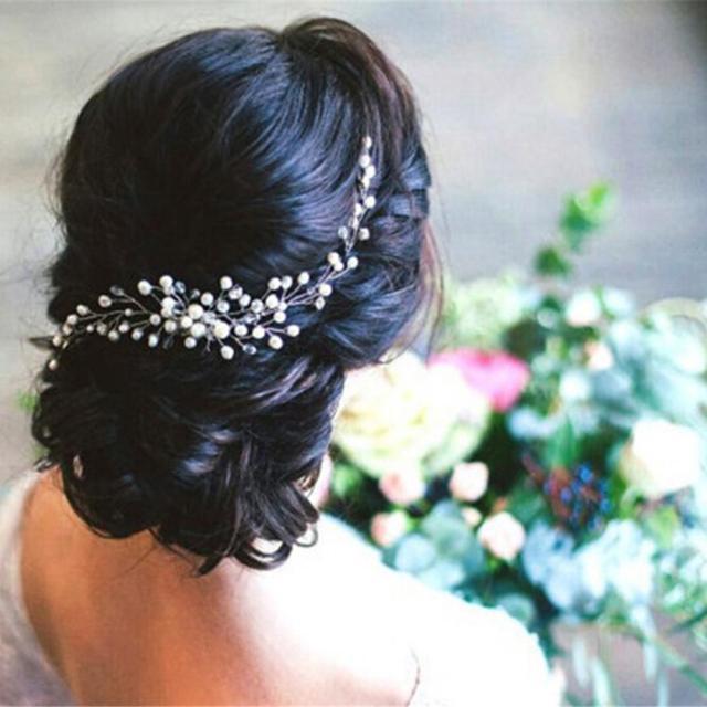 bride bridal hair comb wedding headwear pearl women jewelry hair accessories women girl headpiece headdress head decoration pin